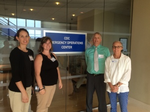 Tour of the CDC Emergency Operations Center with my teacher team. CDC is really strict about no pictures on campus, so we were thrilled to get a pic with the sign!